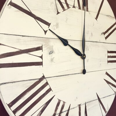essex crafted wood products oversized 28 quot billericay vintage style painted wood wall clock