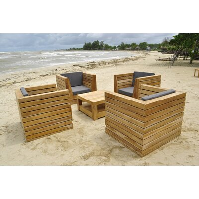Willow creek designs pacific 5 piece deep seating group for Willow creek designs