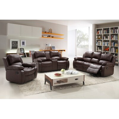 Living In Style Reno 3 Piece Reclining Living Room Set U0026 Reviews | Wayfair