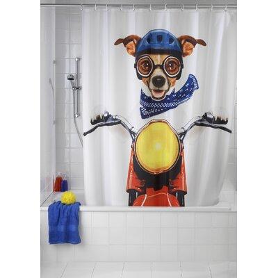 Wenko Inc Biker Dog Shower Curtain U0026 Reviews | Wayfair