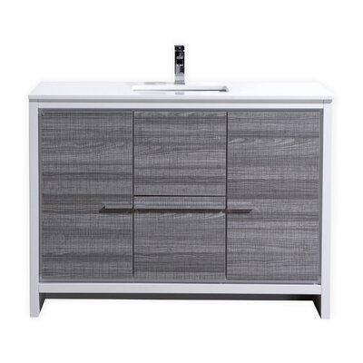 """kube bath dolce 48"""" single sink modern bathroom vanity & reviews"""