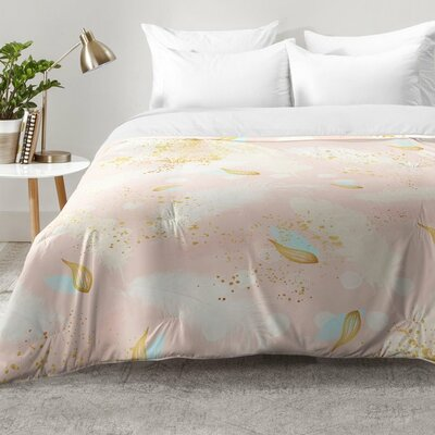east urban home abstract painting with feather strokes comforter set u0026 reviews wayfair