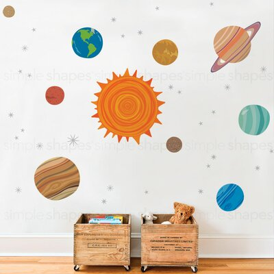 SimpleShapes Planets Wall Sticker Wayfair