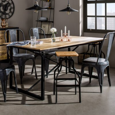 Industrial Dining Table Furniture Kitchen Rustic Reclaimed ...