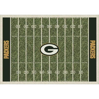 My Team By Milliken NFL Team Home Field Green Bay Packers Area Rug U0026  Reviews | Wayfair