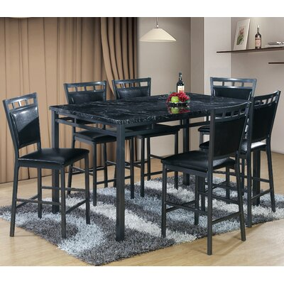 Best Quality Furniture 7 Piece Counter Height Dining Table Set Reviews