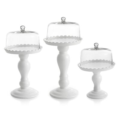 Piece Tiered Cake Stand With Dome