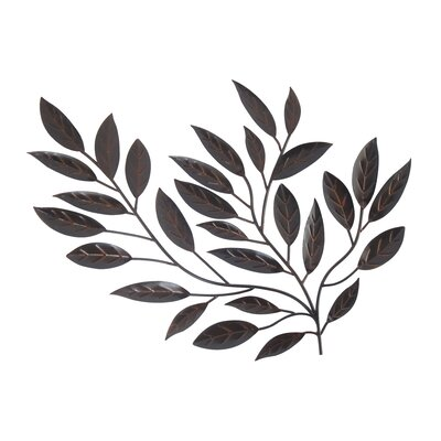 Metal Leaves Wall Decor homestyle collection forged metal leaves sculpture wall decor