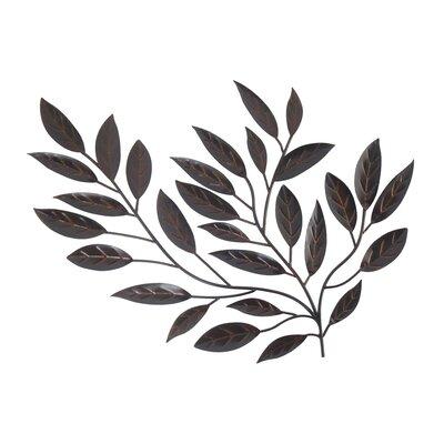 Fleur De Lis Living Forged Metal Leaves Sculpture Wall Decor U0026 Reviews |  Wayfair