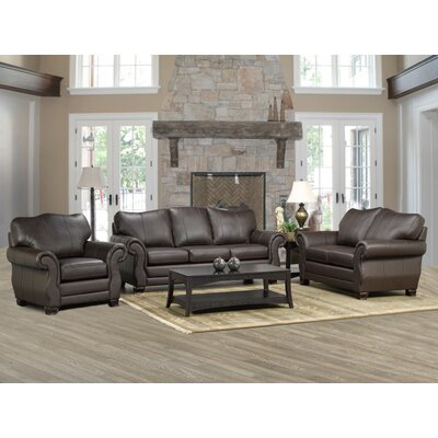 Coja Huntington Leather 3 Piece Living Room Set U0026 Reviews | Wayfair Part 93