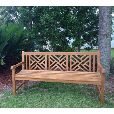 ChicTeak Chippendale Teak Garden Bench U0026 Reviews   Wayfair