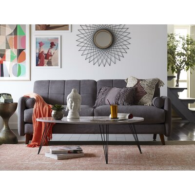 living room modern sofas elle decor natalie mid century modern sofa reviews wayfair