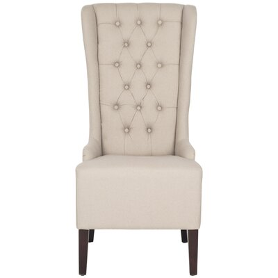 Safavieh Becall Parson Chair In Taupe Linen U0026 Reviews | Wayfair