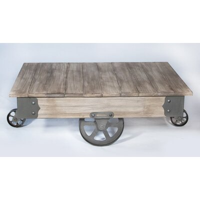 vintage wheels rezfurniture vintage center coffee table with wheels reviews