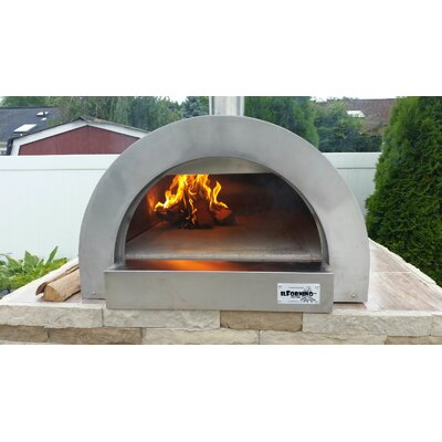 ilfornino f series mini stainless steel wood fired pizza oven u0026 reviews wayfair