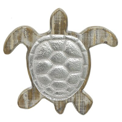 Turtle Wall Decor three hands co. turtle wood and metal wall décor & reviews | wayfair