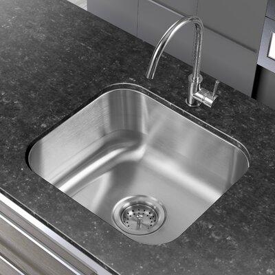 """Undermount Kitchen Single Sink winpro 18"""" x 16"""" single basin undermount kitchen sink & reviews"""