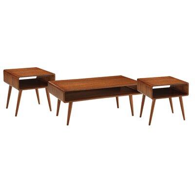 boraam dansk 3 piece coffee table set & reviews | wayfair