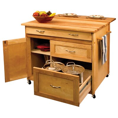 Catskill craftsmen kitchen island with butcher block top for Catskill craftsmen kitchen cabinets