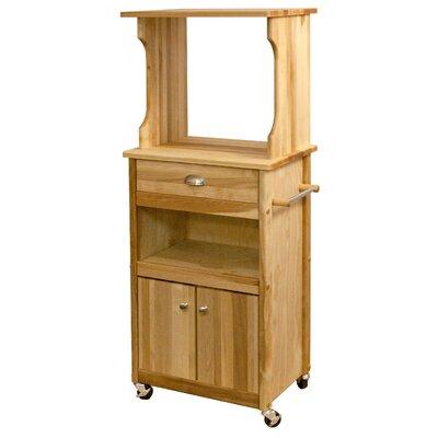 catskill craftsmen microwave cart with butcher block top u0026 reviews wayfair