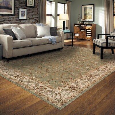 Simple Luxury Heritage Green/Beige Area Rug U0026 Reviews   Wayfair