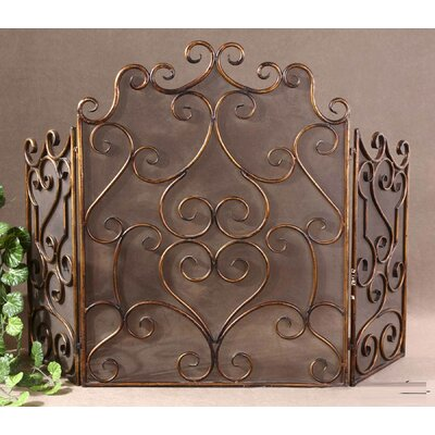 Uttermost Kora 3 Panel Metal Fireplace Screen Reviews Wayfair