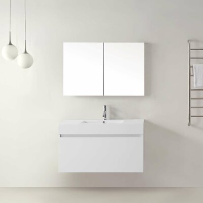 virtu zuri 39 single bathroom vanity set with white top and mirror