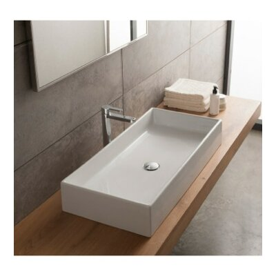 Scarabeo by Nameeks Teorema Rectangular Vessel Bathroom Sink u0026 Reviews |  Wayfair