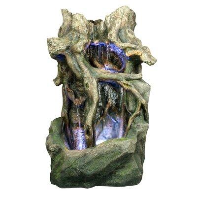 Yosemite Bathroom Lighting yosemite home decor polyresin tree stump fountain with light | wayfair