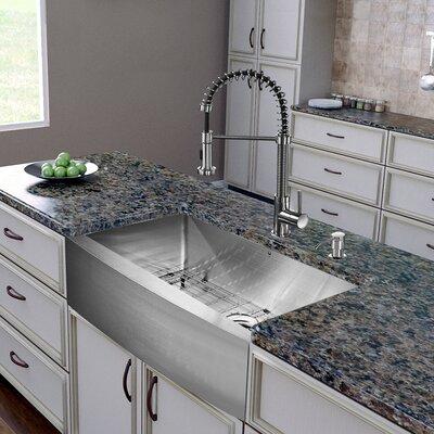 Vigo 30 inch farmhouse apron single bowl 16 gauge for 2 kitchen ct edison nj
