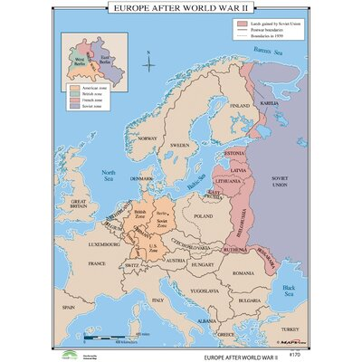 Universal Map World History Wall Maps Europe After World War II - Europe map after world war1