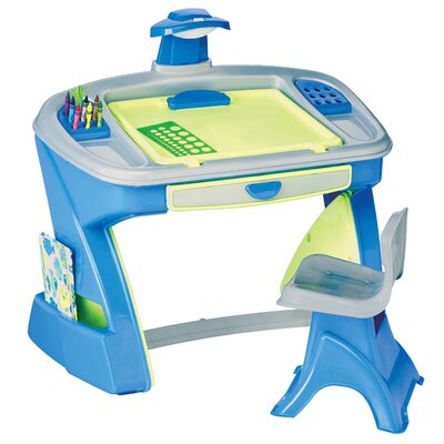 american plastic toys creativity desk and easel kids table and chair set u0026 reviews wayfair