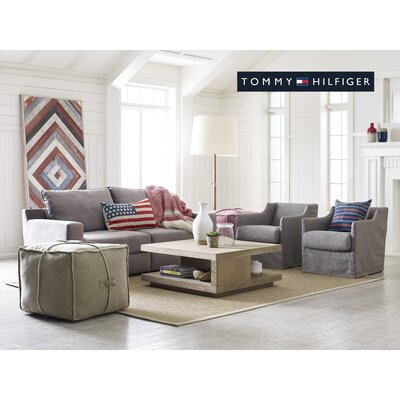 Tommy Hilfiger Doron Square Pouf Ottoman Reviews Wayfair