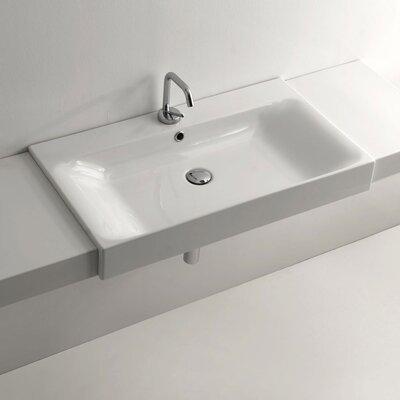 ws bath collections cento ceramic semirecessed bathroom sink, Bathroom decor