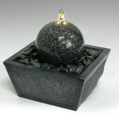 Algreen Fiberglass/Resin Ball Stone Tabletop Fountain With LED Light U0026  Reviews | Wayfair