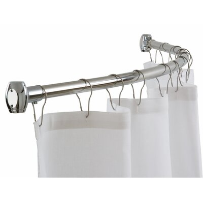 Curtain Rods corner shower curtain rods : Corner Shower Curtain Rod Clawfoot Bathtub Curved L - Rukinet.com