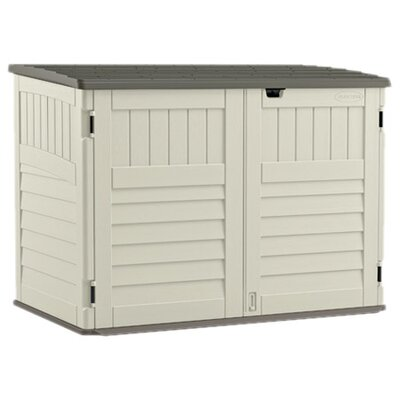 Garden Sheds 8 X 3 suncast 5 ft. 11 in. w x 3 ft. 8 in. d plastic horizontal garbage