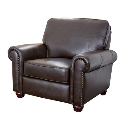 darby home cou0026reg coggins leather club chair - Brown Leather Club Chair