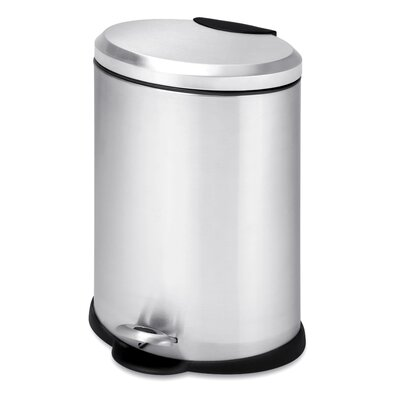 honey can do stainless steel 317 gallon step on trash can u0026 reviews wayfair