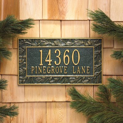 whitehall products pinecone 2line wall address plaque u0026 reviews wayfair - Whitehall Products