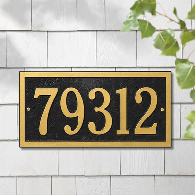 whitehall products bismark 1line wall address plaque u0026 reviews wayfair - Whitehall Products