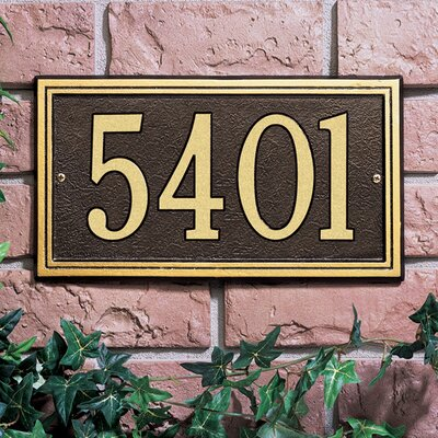 whitehall products double line 1line wall address plaque u0026 reviews wayfair - Whitehall Products