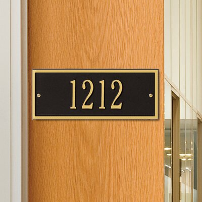 whitehall products hartford 1line wall address plaque u0026 reviews wayfair - Whitehall Products