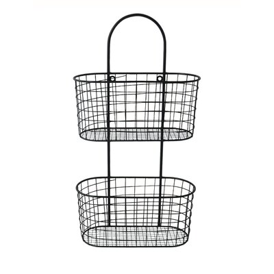 Wall Hanging Wire Baskets cheungs metal wall hanging storage basket & reviews | wayfair