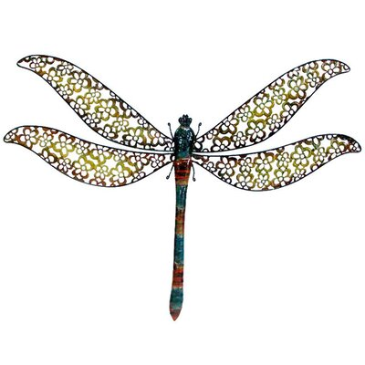 Dragonfly Wall Decor cheungs metal dragonfly wall décor & reviews | wayfair