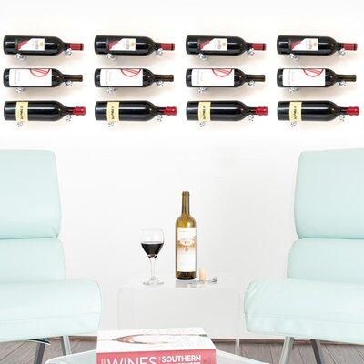 vintageview vino pins 12 bottle wall mounted wine bottle rack u0026 reviews wayfair