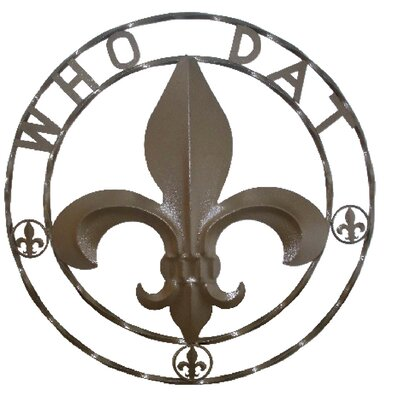 Fleur De Lis Wall Decor leighcountry who dat?! fleur de lis wall décor & reviews | wayfair