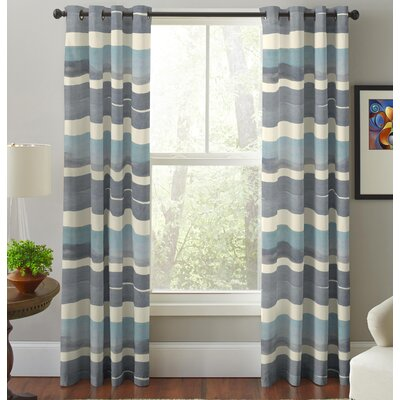 Pointehaven Sky Striped Curtain Panels Wayfair
