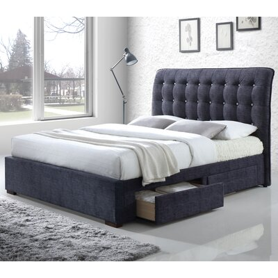 ACME Furniture Drorit Fabric Storage Upholstered Sleigh Bed | Wayfair