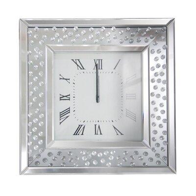 Mirrored Wall Clock rosdorf park bladwell mirrored wall clock | wayfair